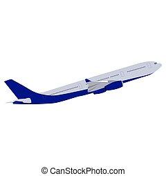 inzittende aircraft, vector