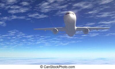inzittende vlucht, lijnvliegtuig