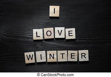 io, amore, inverno, concetto