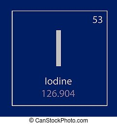 Iodine chemical element colored icon with atomic number and atomic iodine i chemical element icon urtaz Images