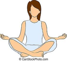 ioga, e, concentrado