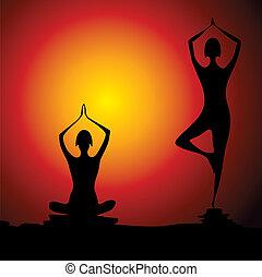 ioga, fundo