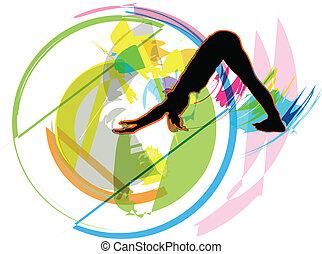 ioga, ilustração