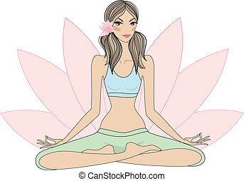 ioga, mulher