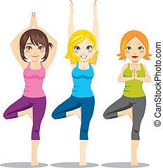 ioga, mulheres