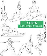 ioga, para, grávida