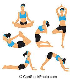 ioga, poses