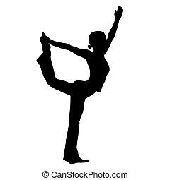 ioga, silueta