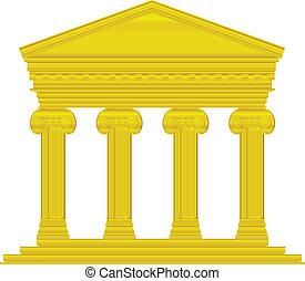 ionic, 寺院, 金