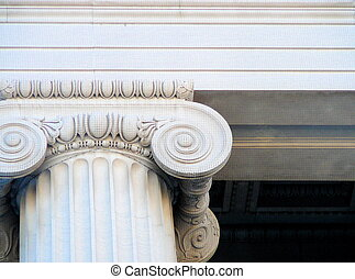 Ionic Column - Architectural detail of ionic column on...