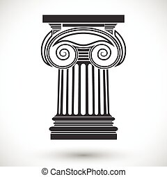 ionic column - architectural background , ionic column ,...