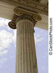 Ionic Column - Closeup of neoclassical ionic column in...