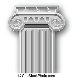 Ionic column - Illustration of a symbol of ancient...