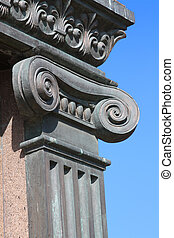 Ionic Column - Ionic Capital of bronze Column