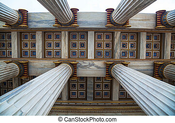 Ionic columns at The Academy of Athens