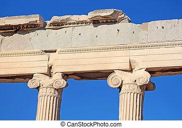 Ionic columns of the Erechtheion, Athens, Greece