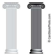 ionique, column.
