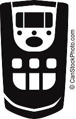 Ionizer remote control icon, simple style - Ionizer remote...