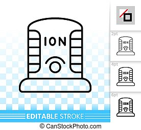 Ionizer simple black line vector icon - Ionizer thin line...