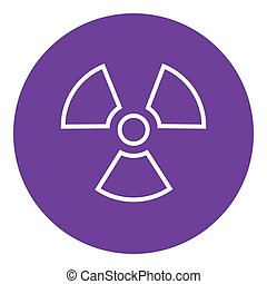 Ionizing radiation sign line icon. - Ionizing radiation sign...