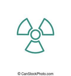 ionizing, radiazione, icona