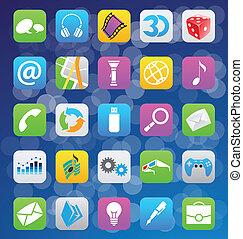 ios, 7, スタイル, モビール, app, アイコン