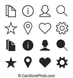 ios 7 icons set - Vector icons set in ios 7 style. Select...