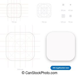 iOS Application Icon Template Scalable Grid System - Mobile ...