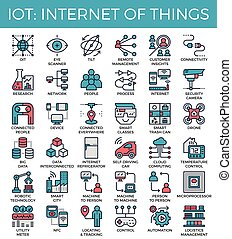 IOT : Internet of things concept icons - IOT : Internet of...
