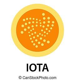 Iota icon, flat style