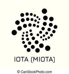IOTA (MIOTA). Vector illustration crypto coin ico
