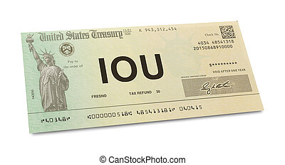 IOU Tax Return - US Tax Return Check with IOU on It Isolated...