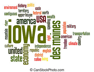 iowa , λέξη , σύνεφο