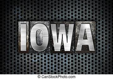 Iowa Concept Metal Letterpress Type