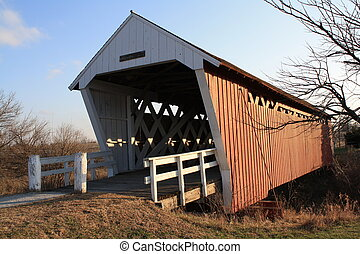Iowa Covered Bridge - One of the many covered bridges in ...