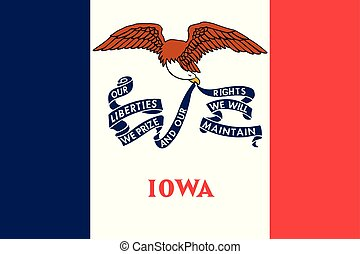 Iowa flag. Vector illustration. United States of America.