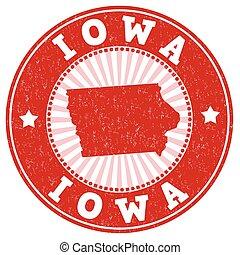 Iowa grunge stamp