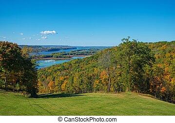 Iowa Mississippi River - Iowa and Illinois Mississippi River...