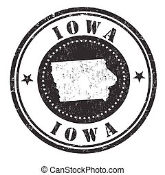 Iowa sign or stamp