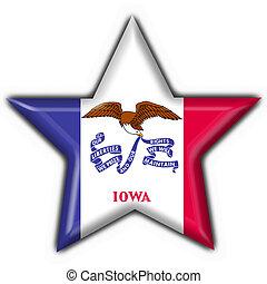iowa, state), bandera, forma, (usa, botón de estrella