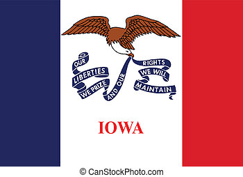 Iowa State Flag - The flag of the USA state of IOWA