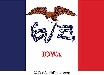 Iowa State Flag - The flag of the USA state of IOWA