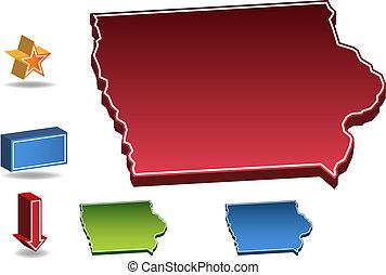 Iowa State map image.