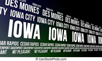 Iowa State Major Cities Banner - Animated scrolling banner...