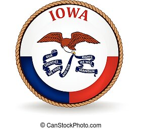 Iowa State Seal - Seal of the American state of Iowa.