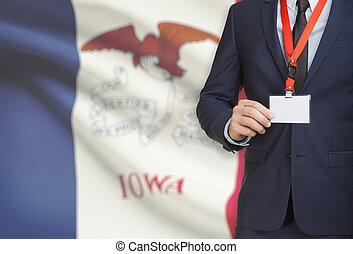 iowa, tenencia, estados unidos de américa, -, bandera del ...