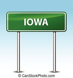 iowa, verde, señal