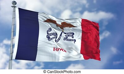 Iowa Waving Flag