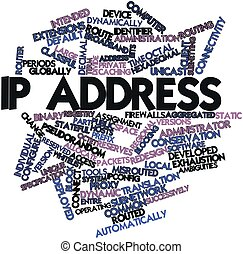 IP address - Abstract word cloud for IP address with related...