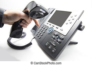 ip, composer, clavier, téléphone
